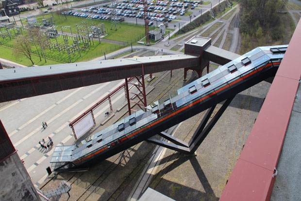 Über diese Rolltreppe gelangt man ins Ruhr Museum