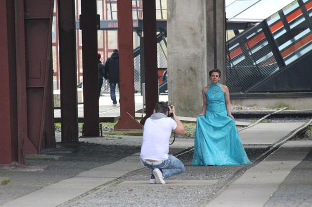 Überall auf dem Gelände werden kleine Fotoshootings veranstaltet