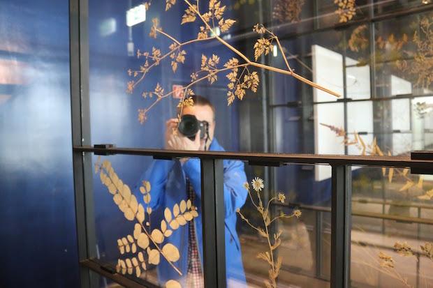 Ich selbst beim Fotografieren im Museum