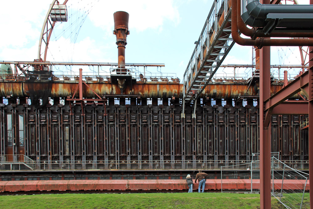Die ehemalige Kokerei Zollverein in Essen im Ruhrgebiet