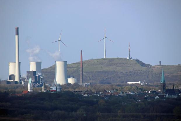Die Halde Oberscholven ist mit 201 Metern die höchste im Ruhrgebiet