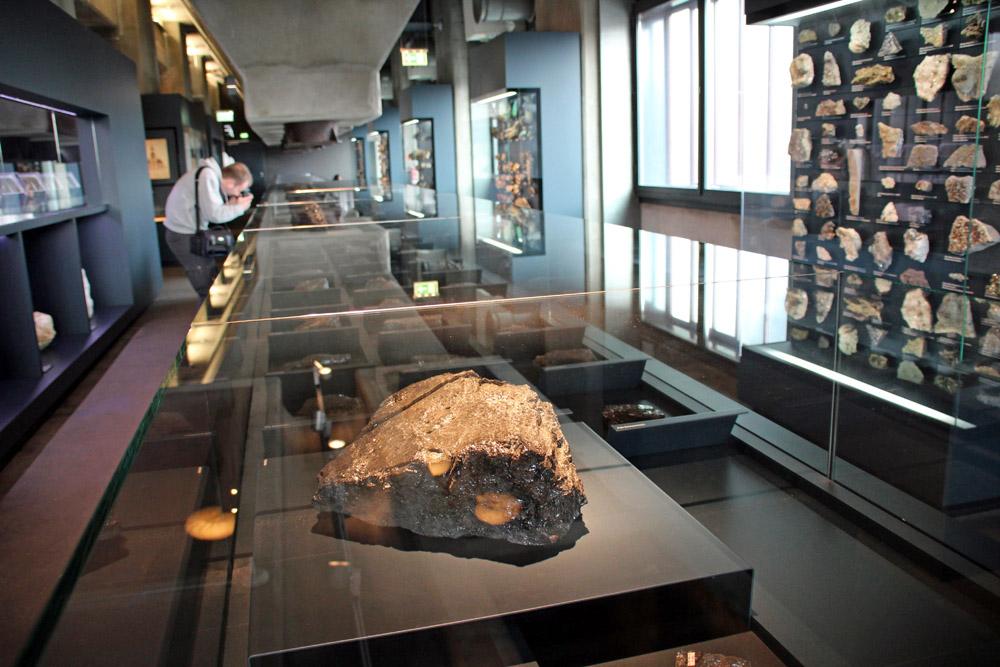 Kohle und Steine sind im Ruhr Museum auf der Zeche Zollverein in Essen zu sehen