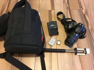 Ihre Ausrüstung passt in einen kleinen Rucksack