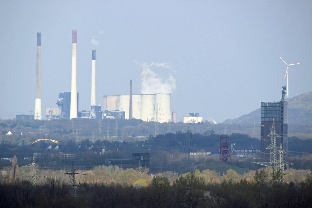 Das Kraftwerk Scholven im Ruhrgebiet