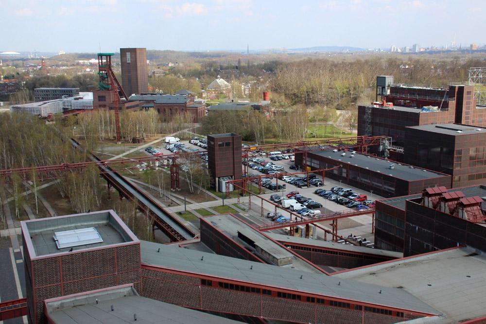 Aussicht vom Dach der Zeche Zollverein