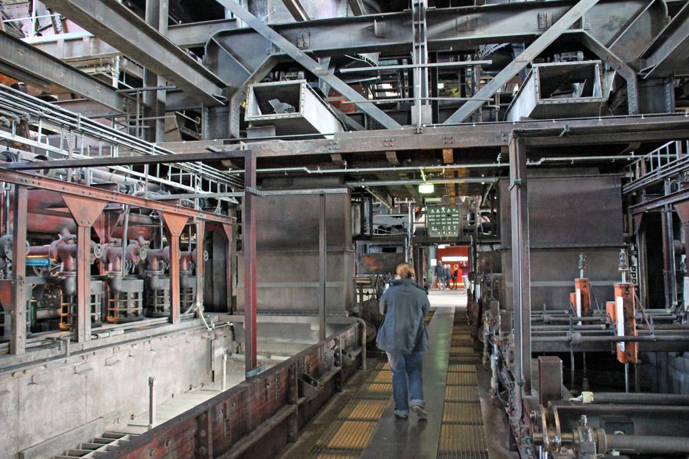 Im Inneren des Weltkulturerbes Zeche Zollverein in Essen gibt es viel zu entdecken