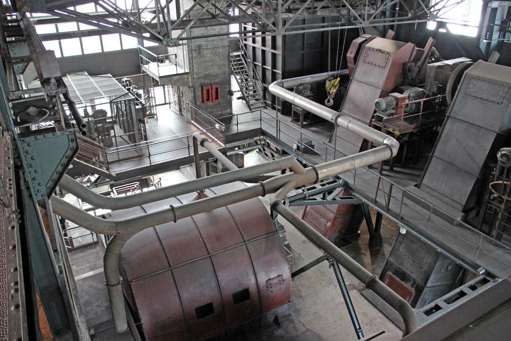 Im oberen Bereich der ehemaligen Kohlenwäsche auf der Zeche Zollverein in Essen