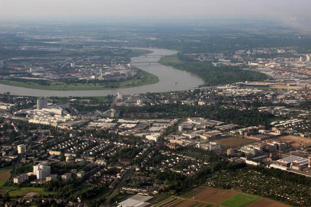 Kurz nach dem Start in Düsseldorf