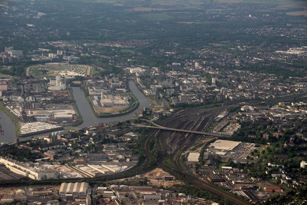 So sieht die Stadt Neuss von oben aus