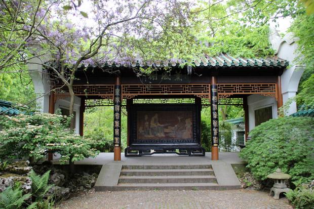 Ein chinesischer Garten ist etwas Besonderes in einem Zoo