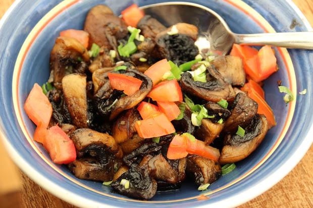 Ein sehr leckerer Pilzsalat