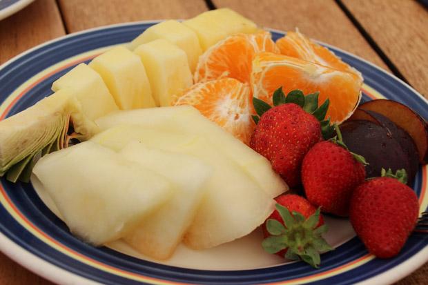 Auch frische Früchte werden gereicht