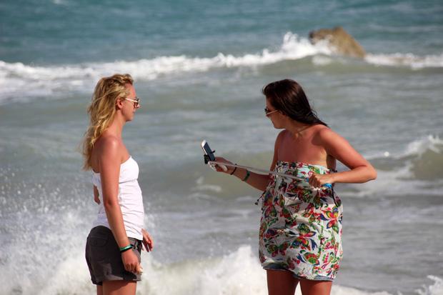 Ob mit Selfie-Stick oder ohne - Fotomotive bieten sich hier reichlich