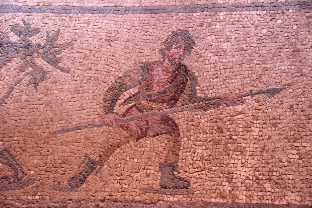 Viele Mosaike zeigen Kampfszenen