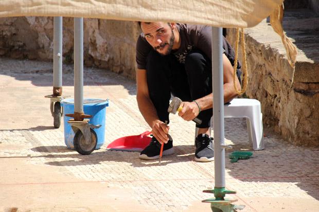 An einigen Stellen sind die Archäologen noch mit den Ausgrabungen beschäftigt