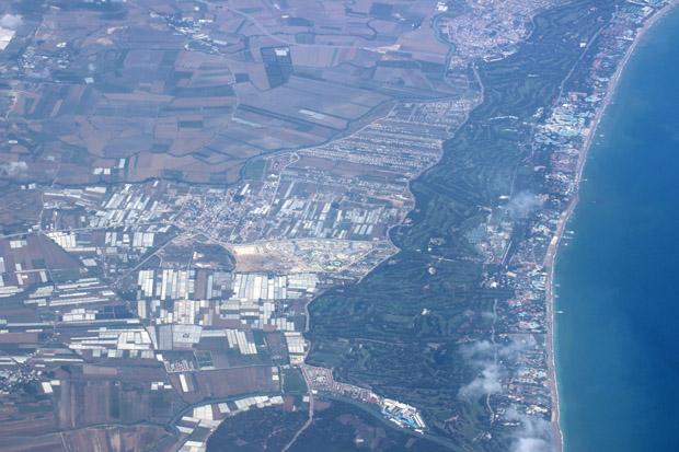 Über Antalya wurde wieder Festland erreicht