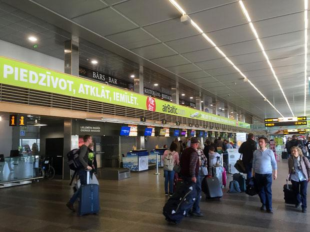 Der Flughafen in Riga ist sehr übersichtlich