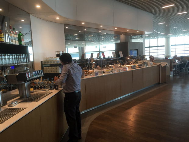 Das Buffet in der Business-Lounge