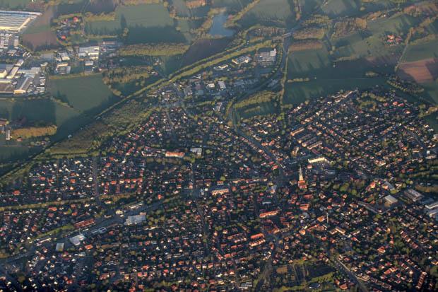 Zunächst überflogen wir das Münsterland