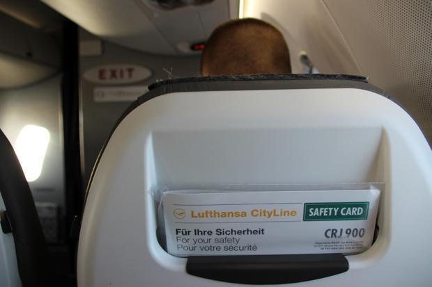 Im CRJ900 saß ich auf Platz A5