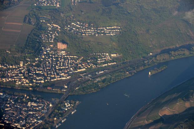 Bingen am Rhein mit der Nahe