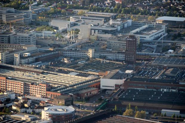 Das Opel-Werk in Rüsselsheim