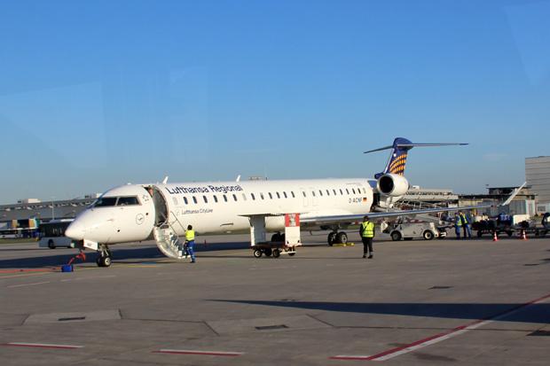 Mit diesem Flugzeug bin ich nach Frankfurt geflogen