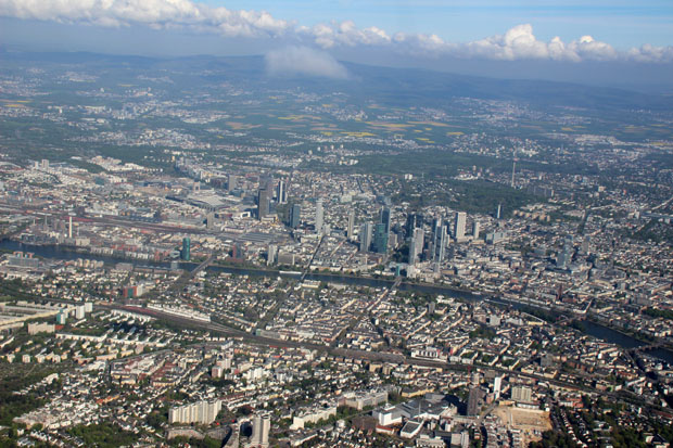 Dann bot sich ein traumhafter Ausblick auf Frankfurt und die Umgebung