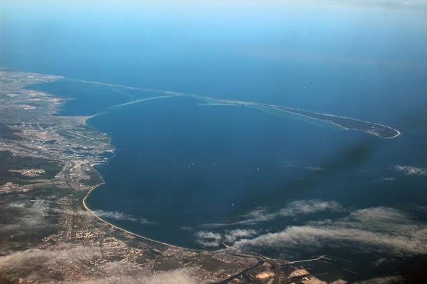 Die Danziger Bucht mit der namensgebenden Stadt war toll zu sehen