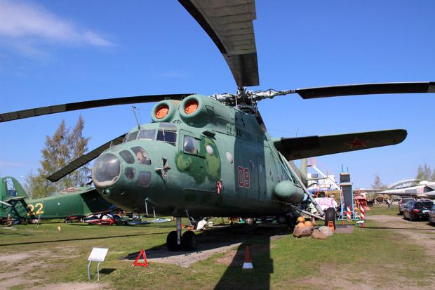 Vor allem viele Hubschrauber sind ausgestellt