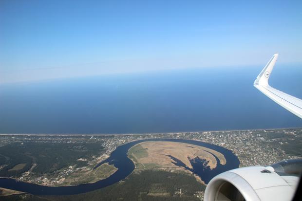 Aus dem Flugzeug wirkte der Küstenort ganz anders wie vom Boden