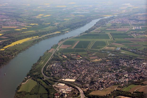 Bei Mainz wurde der Rhein erneut überflogen