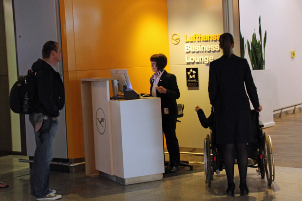 Ich schaute in der Lufthansa Lounge vorbei