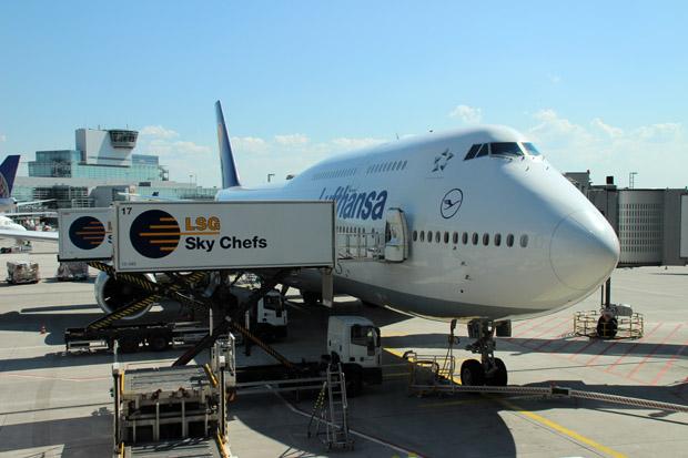 Auch 747-800 waren reichlich zu sehen
