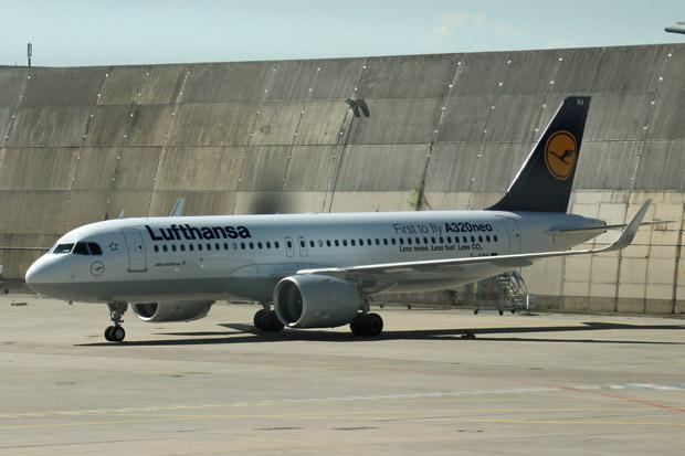 Den ersten A320neo der Lufthansa bekam ich ebenfalls zu sehen