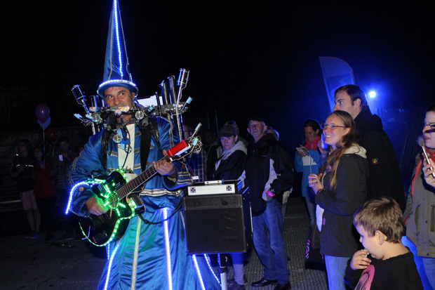Ein märchenhafer Musiker sorgte für Stimmung