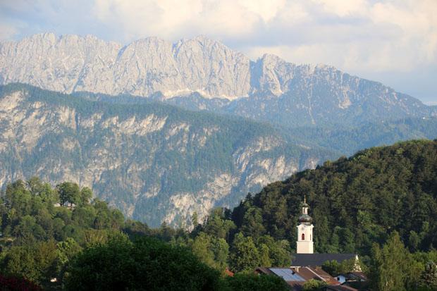 Die Nordseite des Kaisergebirges von Oberaudorf aus gesehen