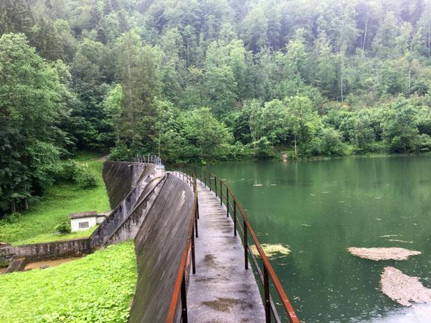 Der kleine Stauweiher in der Mühlau ist heute ein idyllischer Ort