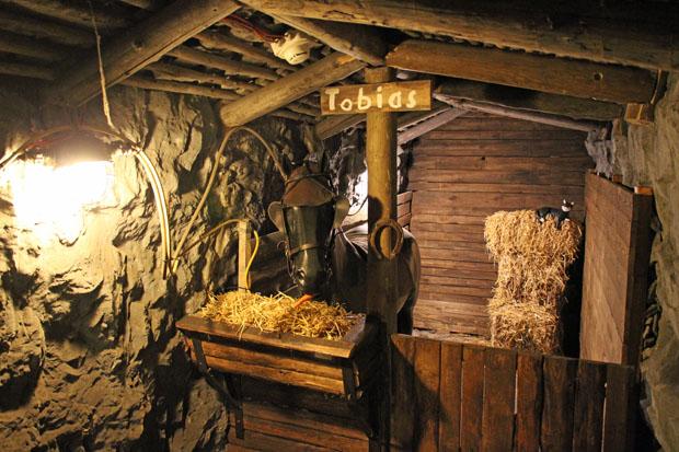 Ein Grubenpferd befindet sich im Museum