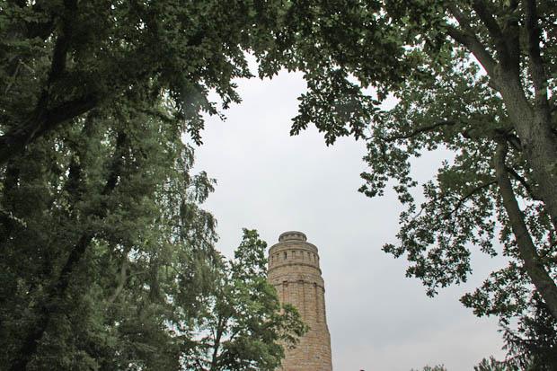 Eigentlich wollte ich auch auf den Bismarckturm im Stadtpark