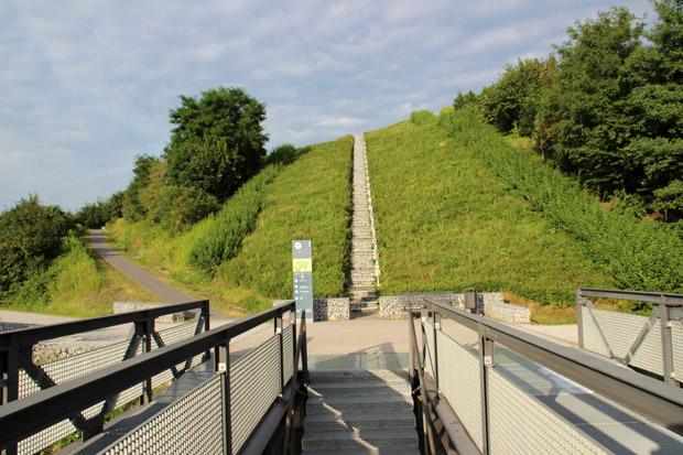 Mehrere Wege führen auf die Halde Hoheward