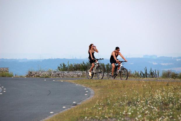 Besonders gut eignet sich die Halde auch für Ausflüge mit dem Fahrrad