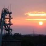 Besonders bei Sonnenuntergang bietet die Zeche einen traumhaften Anblick