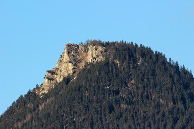 Felsig ist der Gipfelbereich des Kranzhorns