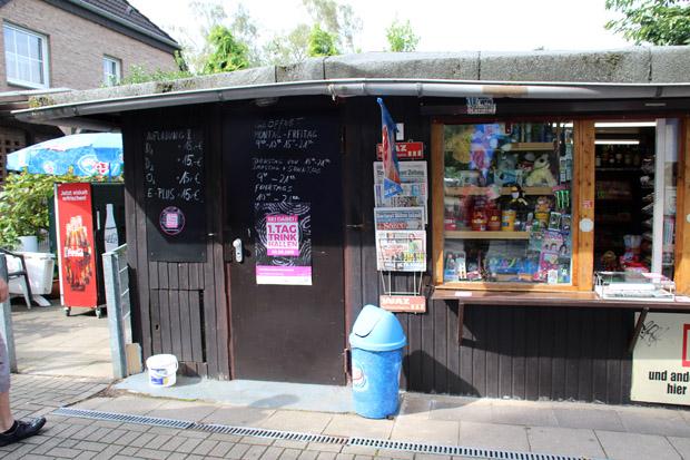 Beim Kiosk Moske starte ich meine Trinkhallen-Tour