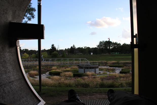 Kanalrohr im Bernepark in Bottrop