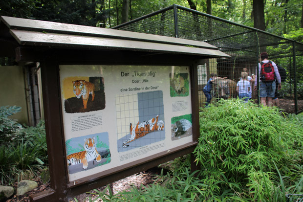 Das ehemalige Tigergehege ist jetzt für Besucher begehbar