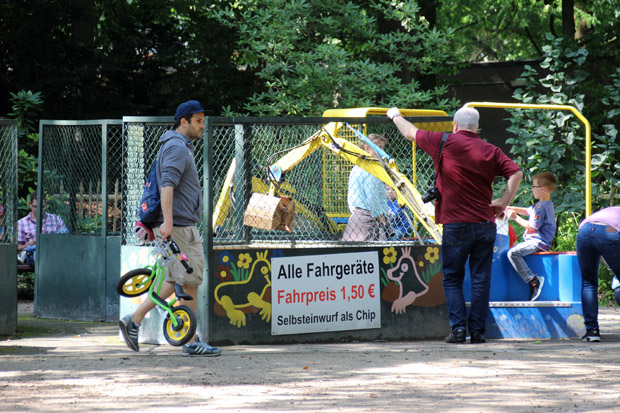 Blick auf den Kinderspielplatz