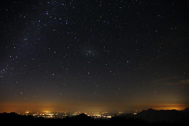 Auch die Andromeda Galaxie war deutlich zu erkennen
