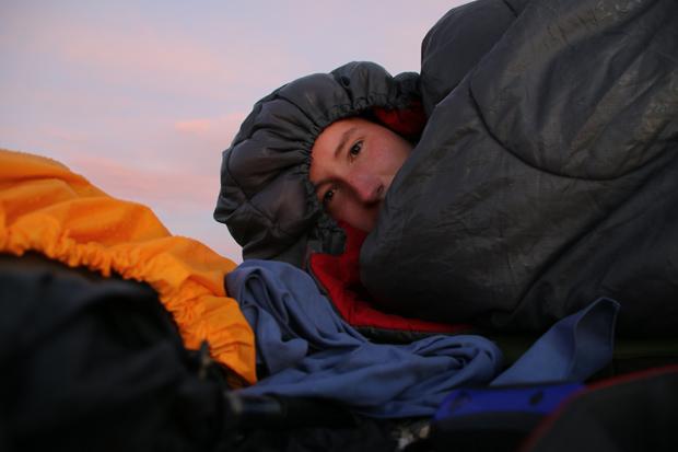 Auch nach Sonnenaufgang bleibt es noch ziemlich kühl